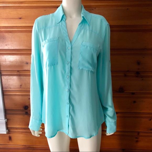 Express Tops - Express Button Down Shirt